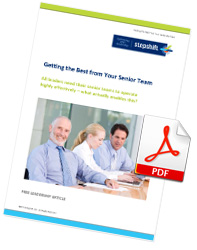 Free Leadership Article: Getting the Best from Your Senior Team
